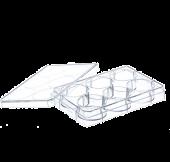 Soluviljelylevy TC 6-kuoppaa kannella