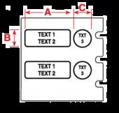 LabPal-tulostimen tarra 12.7 mm B-461 valkoinen
